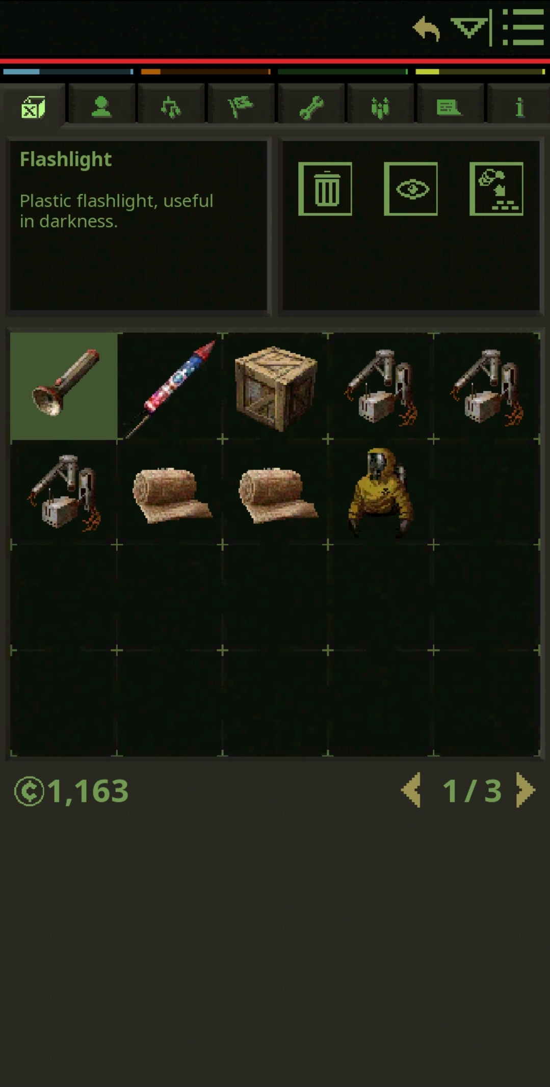 the package still in my inventory
